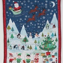 Adventi naptár, Dekoráció, Karácsonyi, adventi apróságok, Ünnepi dekoráció, Adventi naptár,  Adventi naptár 6X6 cm-es zsebekkel. Méret:57X70 cm, Meska