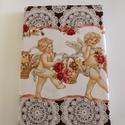Textil borítású jegyzetfüzet, Naptár, képeslap, album, Jegyzetfüzet, napló, Méret: 22X15X1 cm Kockás, vagy vonalas lapú kérhető., Meska