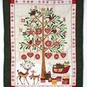 Adventi naptár, Dekoráció, Karácsonyi, adventi apróságok, Ünnepi dekoráció, Adventi naptár,  Adventi naptár 6X6 cm-es zsebekkel. Méret:83x63, Meska