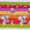 Falvédő, Baba-mama-gyerek, Gyerekszoba, Falvédő, takaró, Jó minőségű pamutvászonból, vatelinnel bélelve készítettem a falvédőt. Méret:200x72cm Hátsó bújtatók..., Meska