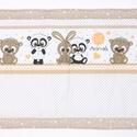 Falvédő, Baba-mama-gyerek, Gyerekszoba, Falvédő, takaró, Jó minőségű pamutvászonból, vatelinnel bélelve készítettem a falvédőt. Méret:200X68cm Hátsó bújtatók..., Meska