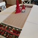 Karácsonyi asztali futó, Dekoráció, Otthon, lakberendezés, Ünnepi dekoráció, Méret: 150X41 cm, Meska