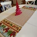 Karácsonyi asztali futó, Dekoráció, Otthon, lakberendezés, Ünnepi dekoráció, Méret: 150X46 cm, Meska