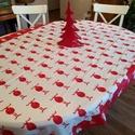 Karácsonyi asztalterítő, Dekoráció, Otthon, lakberendezés, Ünnepi dekoráció, Méret: 113X155 cm, Meska