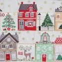 Adventi naptár, Otthon & lakás, Dekoráció, Ünnepi dekoráció, Karácsonyi, adventi apróságok, Adventi naptár,  Adventi naptár 6X7 cm-es zsebekkel. Méret:67x69 cm, Meska