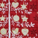 Adventi naptár, Otthon & lakás, Dekoráció, Ünnepi dekoráció, Karácsonyi, adventi apróságok, Adventi naptár,  Adventi naptár 6X6 cm-es zsebekkel. Méret:65x85 cm, Meska