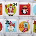 Adventi naptár,  Adventi naptár 6,5x6,5 cm-es zsebekkel. Méret:8...
