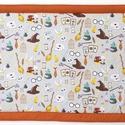 Falvédő Harry Potter ihlette vászonból, Jó minőségű pamutvászonból, vatelinnel béle...