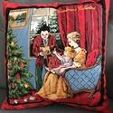 Régi idők karácsonya -Karácsonyi díszpárna, Méret:43X43cm A huzat cipzáras, azaz lehúzható...