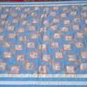 Patchwork takaró , Otthon, lakberendezés, Lakástextil, Falvédő, Takaró, ágytakaró, Patchwork, foltvarrás, Varrás, Ez egy igazi patchwork takaró, mert új és újrahasznosított anyagokból készült. mérete: 200x140 cm. ..., Meska