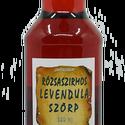 Rózsaszirmos levendulavirág szörp (500 ml), Összetevők:  víz, cukor, bodzabogyó, rózsaszi...
