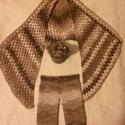 Horgolt nadrág, sapka + háromszög kendő, Baba-mama-gyerek, Baba-mama kellék, Horgolás, Saját kezüleg horgolt baba nadrág, sapka és háromszög kendő. Nadrag : 22-23 cm szeles              ..., Meska