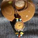 Antik óra csúszócsomós nyaklánc, Ékszer, Karóra, óra, Nyaklánc, Ékszerkészítés, Gyöngyfűzés,