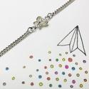 Pillangó ezüst karlánc, Ékszer, Karkötő, 925 sterling silver vékony karkötő apró pillangóval. A charm 7*10 mm-es.  A lánc hossza 18 cm, minde..., Meska