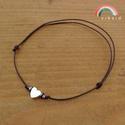 Hematit szív egyszál karkötő (ezüst), Ékszer, Karkötő, Ezüst színű hematit szív, hematit korongok, és japán Toho üveggyöngyök alkotják ezt az egyszálas kar..., Meska