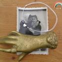 Hematit szív egyszál karkötő (arany), Ékszer, Karkötő, Arany színű hematit szív, hematit korongok, és japán Toho üveggyöngyök alkotják ezt az egyszálas kar..., Meska