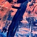 Naplemente, Művészet, Festmény, Akril, Festészet, Akril festékkel készült absztrakt festmény, dekorációs és a részletekben elveszős céllal, 40x40 cm...., Meska