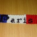 Csomózott karkötő Paris felirattal, Ékszer, Karkötő, Csomózás, Paris feliratú csomózott karkötő. Rendelésre bármilyen feliratos karkötőt szívesen elkészítek. A ka..., Meska