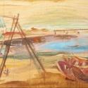 olajfestmény, Képzőművészet, Festmény, Keszthelyi kikötő. Oravecz Viktória festőművész alkotása. 50x70 cm, olaj, vászon., Meska