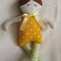 Pöttyös baba, Játék, Baba-mama-gyerek, Plüssállat, rongyjáték, Játékfigura, 22 cm magas kis szeretgetni való baba., Meska