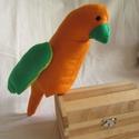 Kakadu, papagáj, Játék, Baba-mama-gyerek, Plüssállat, rongyjáték, Játékfigura, Nagy színes kakadu magár.   Magassága 25cm., Meska
