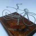 Kerékpár 2, Dekoráció, Férfiaknak, Mindenmás, Otthon, lakberendezés, Kerékpár Egyedi ajándék, drótból készített kerékpár.A biciklik átlagosan 10 cm magasak é..., Meska