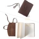 BŐR notesz, napló, tervező, jegyzetfüzet, rajzfüzet, utazási napló, vintage termék, retro, 160 oldal, Vintage, bőr borítású, megkötős, kis könyve...
