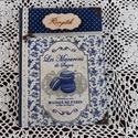 Receptfüzet macaronnal a vintage jegyében, Otthon & lakás, Dekoráció, Konyhafelszerelés, Receptfüzet,    A képen látható különleges receptkönyv készleten van,de hasonlót egész évben folyamatosan rendelh..., Meska