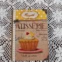 Receptfüzet muffinnal a vintage jegyében, Otthon & lakás, Dekoráció, Konyhafelszerelés, Receptfüzet,   A képen látható különleges receptkönyv készleten van,de hasonlót egész évben folyamatosan rendelhe..., Meska