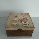 Vintage mintás teafiltertartó doboz, Különleges stílusú  vintage mintás teafiltert...