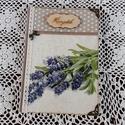 Receptfüzet csokros levendula mintával a vintage jegyében, A képen látható különleges receptkönyv kész...