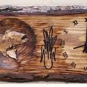 Horgásznak ajándék fa falióra, Férfiaknak, Otthon, lakberendezés, Horgászat, vadászat, Falióra, óra, Famegmunkálás, Tömör, háncsolt vagy háncsolatlan fából, marással készült faóra, matt, tölgy festéssel. Praktikus a..., Meska