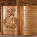 Fakönyv születésnapra, Esküvő, Férfiaknak, Képzőművészet, Nászajándék, Famegmunkálás, Különleges ajándék, különleges személynek. Fakönyvek egyedi elképzelés alapján készülnek, nincs két..., Meska