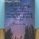 Motivációs tábla kép Paulo Coelho idézettel Boldogság., Otthon, lakberendezés, Dekoráció, Falikép, Kép, Famegmunkálás, Motivációs tábla kép a BOLDOGSÁGRÓL     A termék kasírozott technikával készül, 6 mm es mdf lapra. ..., Meska