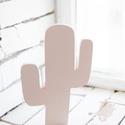 Kaktusz 25x3cm, Baba-mama-gyerek, Dekoráció, Otthon, lakberendezés, Gyerekszoba,  Fa alapon, bababarát festékkel kezelve. Fehér,púder,menta színben választható., Meska
