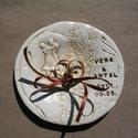 """Kerámia  """" gyűrűpárna"""", Esküvő, Gyűrűpárna, Fehérre égő agyagból készítettem ezeket a gyűrűtartókat. A nevek és a dátum természetese..., Meska"""