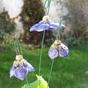 Kék virágok, Dekoráció, Otthon, lakberendezés, Dísz, Fehérre égő agyagból készítettem ezeket a virágokat..   Mázazott,kétszer égetett kerámiák.A  virágok..., Meska
