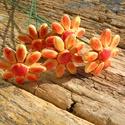 5 szál apró virág, Dekoráció, Otthon, lakberendezés, Dísz, Fehérre égő agyagból készítettem ezeket az apró virágokat..   Mázazott,kétszer égetett kerámiák. A  ..., Meska