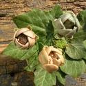 Ázsiai boglárkák, Dekoráció, Otthon, lakberendezés, Dísz, Fehérre égő agyagból készítettem ezeket a virágokat.   Mázazott,kétszer égetett kerámiák.A teljes vi..., Meska
