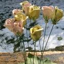 10 szál rózsa  nőnapra, Dekoráció, Otthon, lakberendezés, Dísz, Fehérre égő agyagból készítettem ezeket a virágokat.   Mázazott,kétszer égetett kerámiák.A teljes vi..., Meska