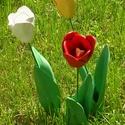 Tulipánok., Otthon, lakberendezés, Kerti dísz, Ha tulipánra gondolunk egy szép piros virág jelenik meg előttünk. Harsány ,vidám.Én azért készítette..., Meska