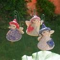 Iciri-piciri  tündérkék. :), Dekoráció, Képzőművészet, Szobor, Kerámia, Fehérre égő agyagból készítettem ezeket a tündérkéket. A ruhájuk csipke nyomott bézs,lilás, és fehér..., Meska