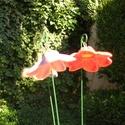 """Csengő-bongó    virágok, Dekoráció, Otthon, lakberendezés, Dísz, .Fehérre égő agyagból készítettem ezeket a  virágokat.   .A teljes virágfej átmérője 4,8 cm,"""" magass..., Meska"""