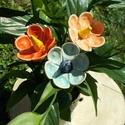 Kertem virágai, Dekoráció, Otthon, lakberendezés, Dísz, Az én kertemben mesebeli virágok nyílnak,a szeretet és a remény táplálja őket :) Remélem a Te otthon..., Meska