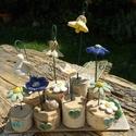 KREA, Dekoráció, Otthon, lakberendezés, Dísz, Asztaldísz, Légy KREAtív. :) Készítettem egy asztaldíszt nyírfa korongokból,kerámia virágokból,de Neke..., Meska