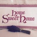 Home Sweet Home, Dekoráció, Dísz, Hímzés, 54x30cm-es gyönyörűséges,hímzett fali kép. 2 termék vásárlásakor 5%,3 termék esetében 10%,10000Ft v..., Meska