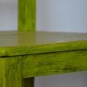zöld szék, Bútor, Szék, fotel, Fenyő fából készült szék, lecsiszoltam a régi festéket és ecsettel zöldre festettem olaj f..., Meska