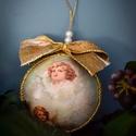 Karácsonyfa díszek, Karácsony & Mikulás, Karácsonyfadísz, Decoupage, transzfer és szalvétatechnika, !!! VINTAGE KARÁCSONYFA DÍSZEK !!!  Közeleg a karácsony, ezért egyedi, kézzel készített karácsonyfa..., Meska