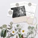 Fényképes egyedi esküvői meghívó, Esküvő, Meghívó, ültetőkártya, köszönőajándék, Fotó, grafika, rajz, illusztráció, Sok jegyespár készít esküvő előtt jegyes fotókat, melyeket nagyon jól felhasználhatunk ehhez a fajt..., Meska