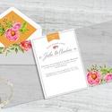 Fényképes egyedi esküvői meghívó